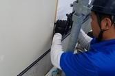 外壁サイディング張替え 張替え後塗装工事まで宮本建装が行います