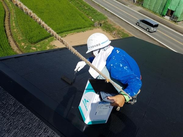 熊本益城店舗屋根塗装・本日で屋根塗装工事完了しました!!