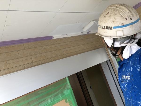 熊本西区春日新築住宅・軒天井塗装工事完了!