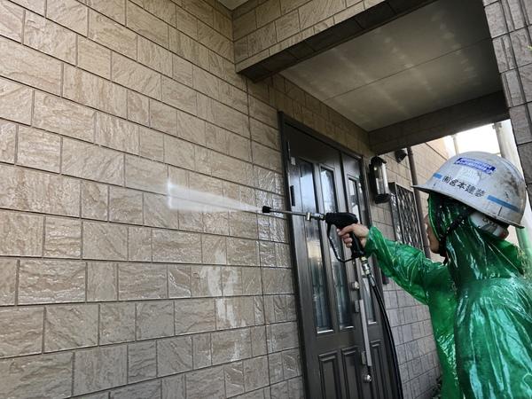 熊本上益城郡広崎住宅塗装・塗装前高圧洗浄工事