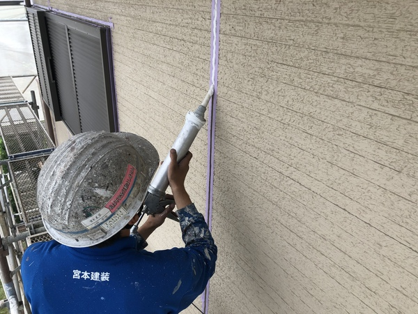 熊本上益城郡広崎住宅塗装・外壁目地シーリング工事