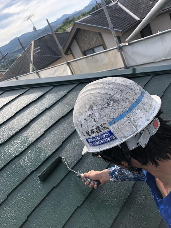 熊本北区徳王・住宅塗装スレート屋根(コロニアル)塗装工事
