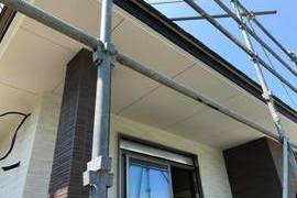 熊本市西区谷尾崎にて新築軒天井塗装工事の施工前画像