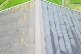 熊本県上益城郡御船町 屋根補修後スレート(コロニアル)塗装工事の施工前画像