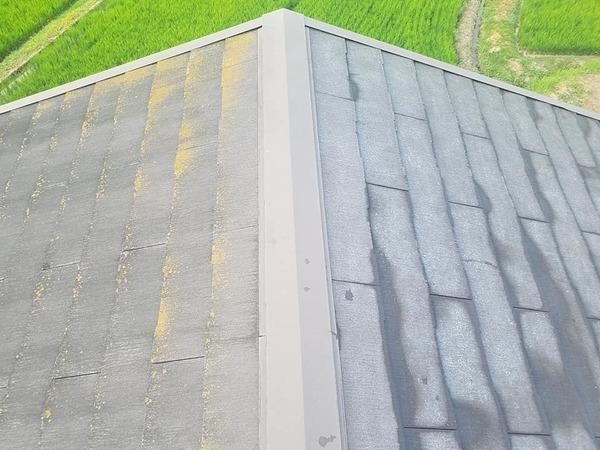 熊本県上益城郡御船町 屋根補修後スレート(コロニアル)塗装工事