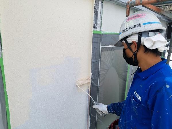 熊本市北区徳王住宅塗装・外壁水性シリコン塗装工事(水性セラミシリコン)