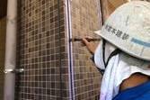 マンション磁器タイル 保護塗装 超低汚染弱溶剤形アクリルシリコン樹脂クリヤー