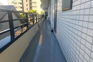 熊本市東区佐土原 会社ベランダ廊下土間防水工事の施工後画像