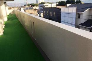 熊本県熊本市東区健軍マンション腰壁塗装工事 3回塗りの施工後画像