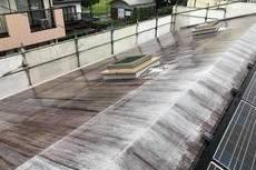 熊本市中央区渡鹿 住宅屋上防水シート保護塗装工事