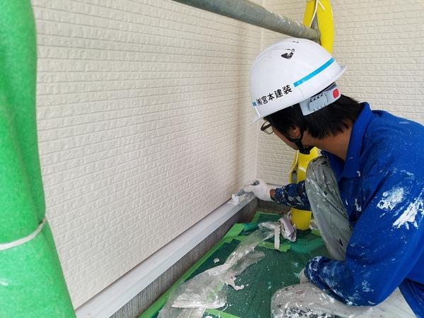 熊本徳王住宅・付帯部塗装工事完了しました!!!