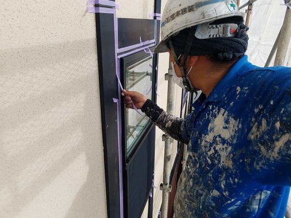 熊本市北区徳王住宅塗装・外壁シーリング工事(2液型シリコン材)