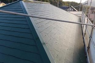熊本市北区住宅 屋根老朽化対策塗装工事(厚膜下塗り材使用)の施工後画像