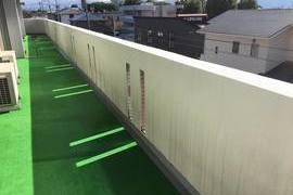 熊本県熊本市東区健軍マンション腰壁塗装工事 3回塗りの施工前画像