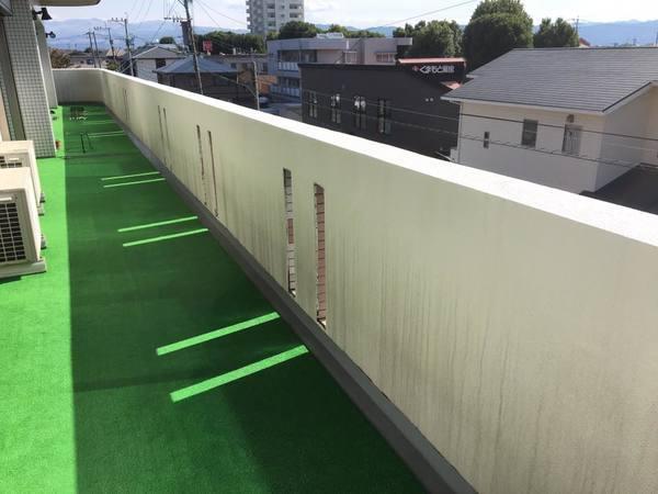 熊本県熊本市東区健軍マンション腰壁塗装工事 3回塗り