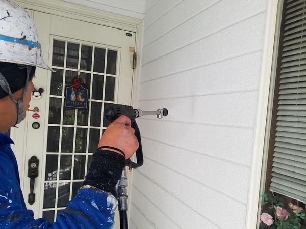 熊本県菊池郡菊陽町住宅塗装・外壁塗装前高圧水洗浄工事