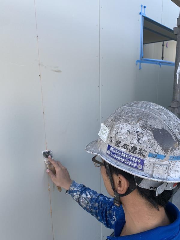 熊本県合志市栄・新築住宅塗装・外壁下地処理工事