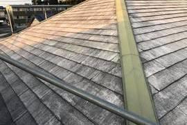 熊本県上益城郡益城町広崎 住宅屋根塗装工事 屋根板金箇所塗装含むの施工前画像