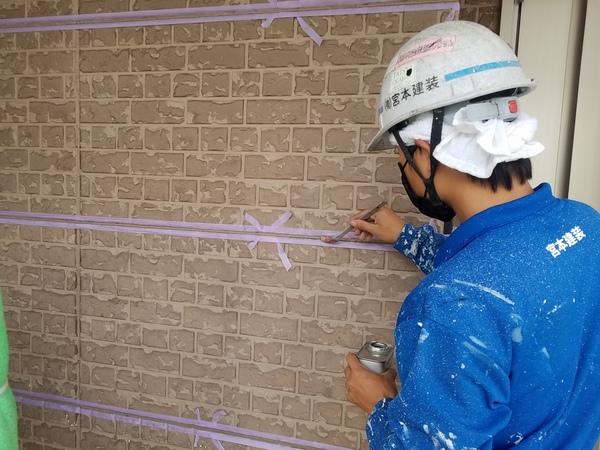 熊本県合志市幾久富住宅塗装・外壁シーリング工事
