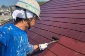 熊本県上益城郡益城町広崎 住宅屋根塗装工事 屋根板金箇所塗装含む