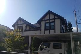 熊本市北区徳王 住宅外壁塗装&モール塗装(各所コーキング工事含む)の施工前画像