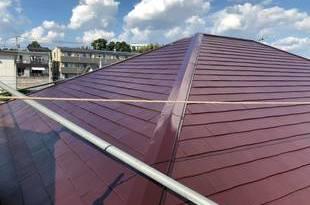 熊本県上益城郡益城町広崎 住宅屋根塗装工事 屋根板金箇所塗装含むの施工後画像