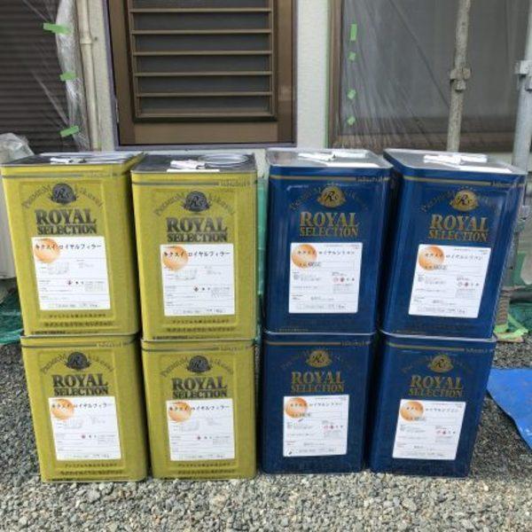 熊本県山鹿市鹿央町住宅塗装・お宮除カビ工事(カビクリーン工法)