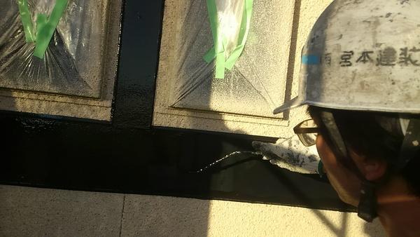 熊本県菊池市西寺住宅塗装・付帯部上塗り1回目塗装工事