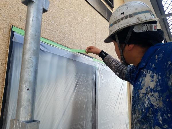 熊本県菊池市西寺住宅塗装・外壁養生塗装工事