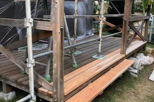 ウッドデッキ老朽化(木腐食)修繕補強工事 / 益城町広崎の施工後画像