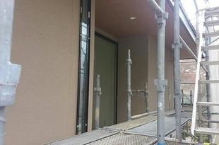 熊本県阿蘇市内牧にて弾性リシン吹付工事完了(新築)の施工後画像