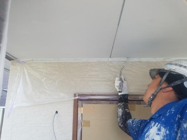 熊本県合志市御代志・新築住宅軒天井塗装工事