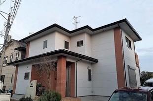 合志市幾久富住宅 外部付帯箇所塗装工事 (破風・樋・軒天井)の施工後画像