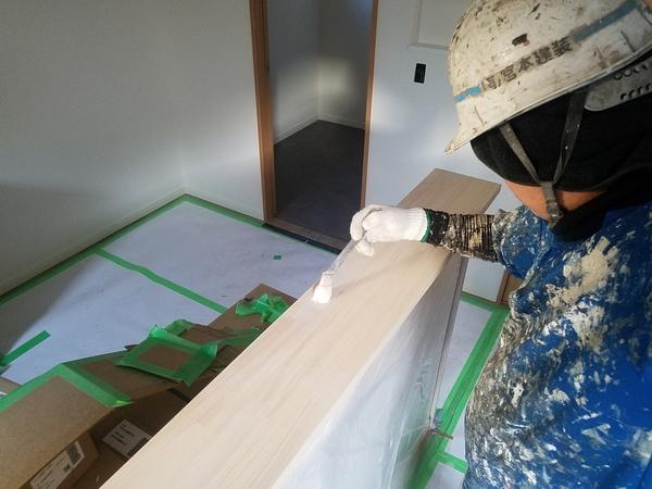 熊本市北区八景水谷新築住宅・内部塗装完了
