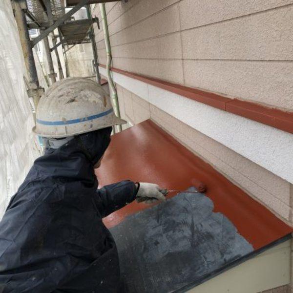 熊本市北区梶尾町住宅塗装・板金ケレン、錆止め塗装工事