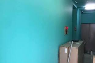 熊本市中央区下通 ホテル内部クロス撤去後塗装工事の施工後画像