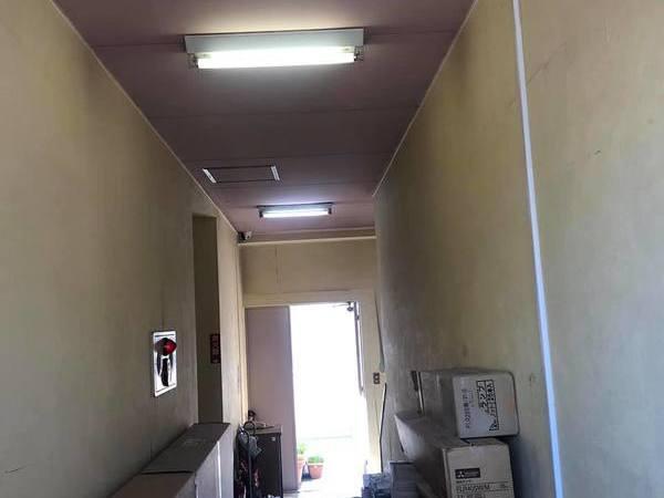 熊本市中央区下通 ホテル内部クロス撤去後塗装工事