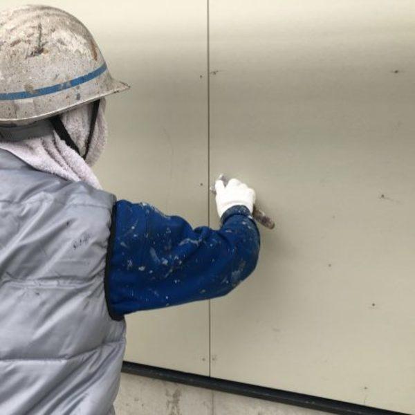 熊本県玉名郡玉東町新築住宅塗装・外壁パテ処理工事