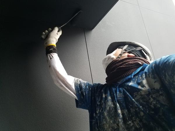 熊本市中央区国府新築住宅・外壁塗装工事(弾性ベルアート使用)