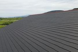 コロニアル屋根(スレート)修繕・葺き替え・塗装を行いました。(益城住宅)の施工前画像