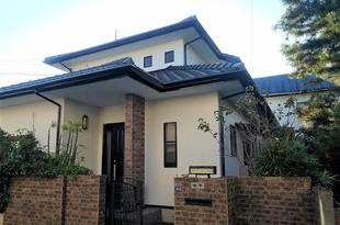 熊本市東区住宅モルタル外壁塗装工事・屋根は高圧洗浄洗いのみの施工後画像