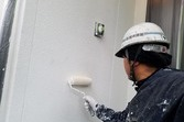 熊本市東区住宅モルタル外壁塗装工事・屋根は高圧洗浄洗いのみ