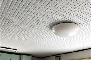 山鹿市住宅リビング岩綿天井塗装工事の施工後画像