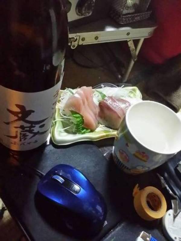 球磨焼酎 文蔵にて晩酌開始なり(お湯割り)