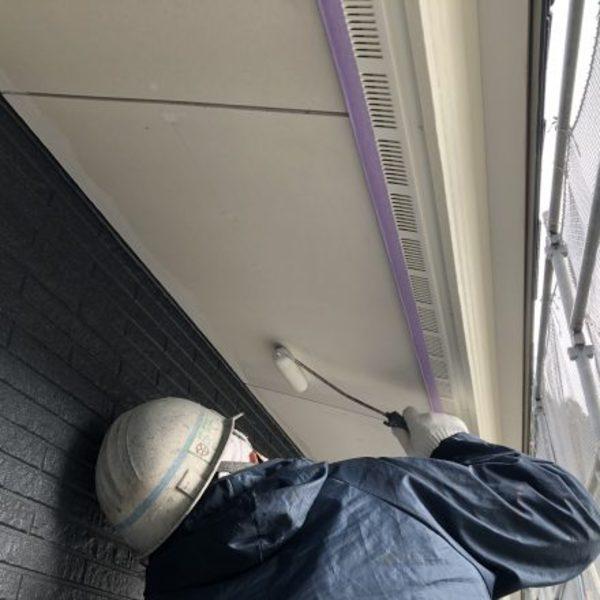 熊本県南阿蘇新築住宅・軒天井EP塗装工事完了
