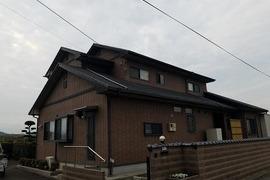 熊本県上益城郡嘉島町 スレート屋根塗装工事 屋根板金部含むの施工前画像