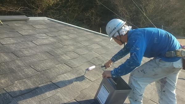 熊本県荒尾市万田住宅塗装・屋根下塗り