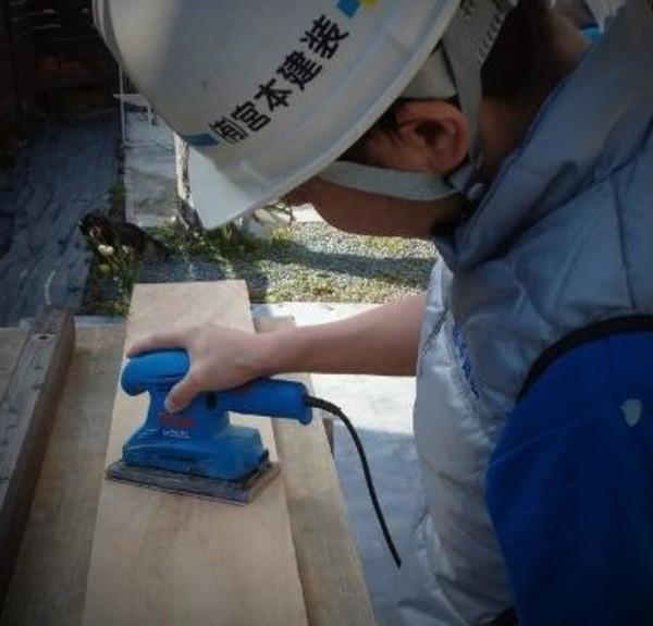 熊本市住宅内部 木部加工塗装工事(暴風日)