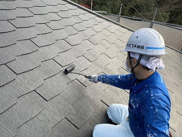熊本荒尾市住宅塗装・屋根上塗り