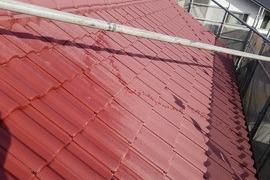 熊本県菊池市西寺 屋根吹付塗装工事の施工前画像
